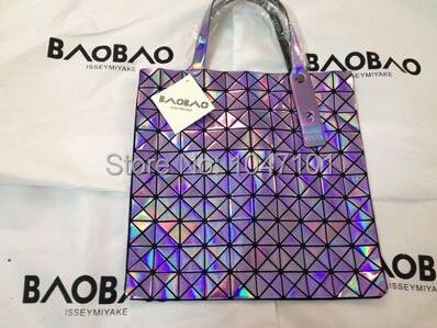 7c7876aebe7f Free shipping new 2014 BAO BAO ISSEY MIYAKE 10 10 Metallic silve women s  handbag shoulder