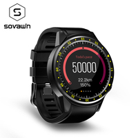 Sovawin Sport Smart Watch Blood Pressure Heart Rate Waterproof Dial Call Smartwatch GPS Camera SIM Card for Android for IOS