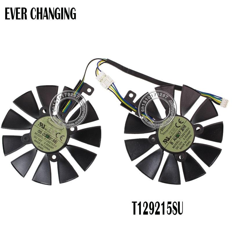 87mm ventilador para ASUS GTX1060 1070 Ti RX 470 de 570 de 580 gráficos TARJETA DE Everflow T129215SU PLD09210S12HH 28mm ventiladores de refrigeración