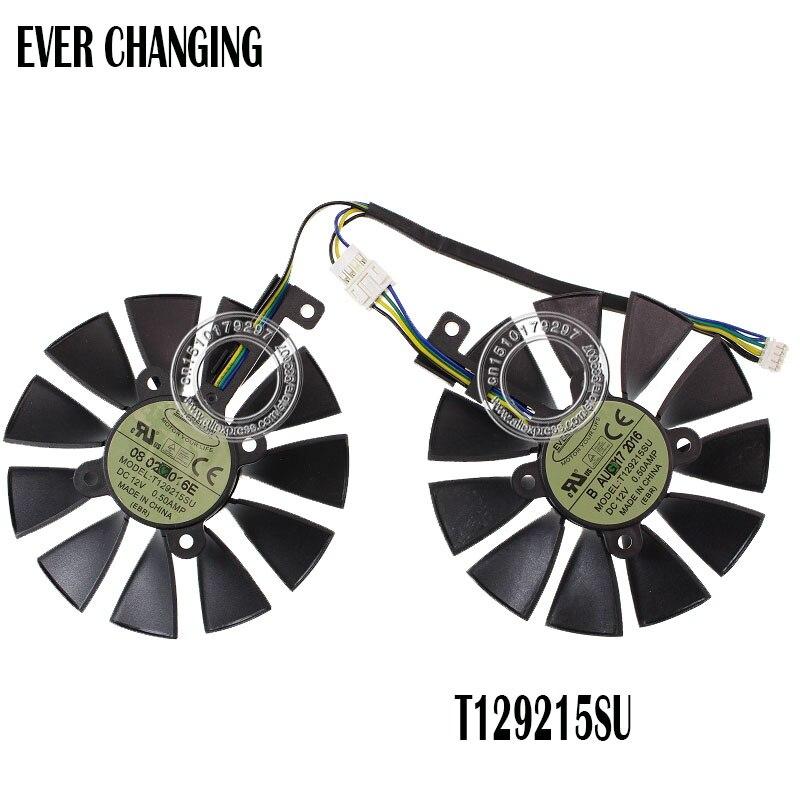Ventilateur refroidisseur 87MM pour ASUS GTX1060 1070 Ti RX 470 570 580 carte graphique Everflow T129215SU PLD09210S12HH 28mm ventilateurs de refroidissement