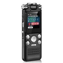 Réduction de bruit Portable sans perte Dictaphone enregistreur vocal numérique Microphone bidirectionnel chargement USB activé multifonctionnel