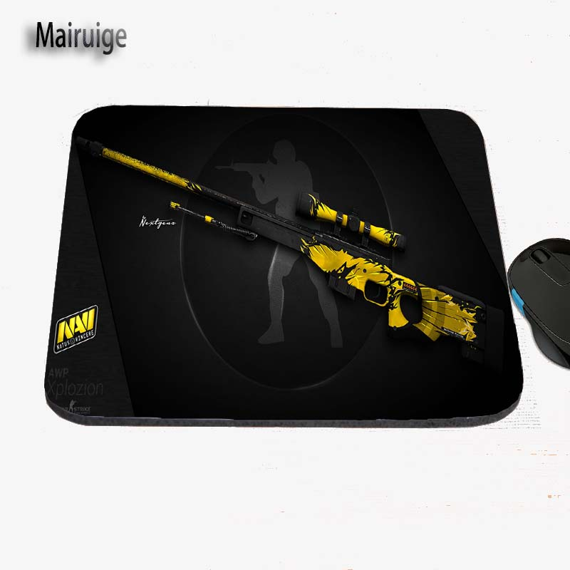 Mairuige DIY Game Guns To Print Custom Antiskid Computer Desk Rubber Mouse Pad Eat Mat, Can Be Used As A Gift