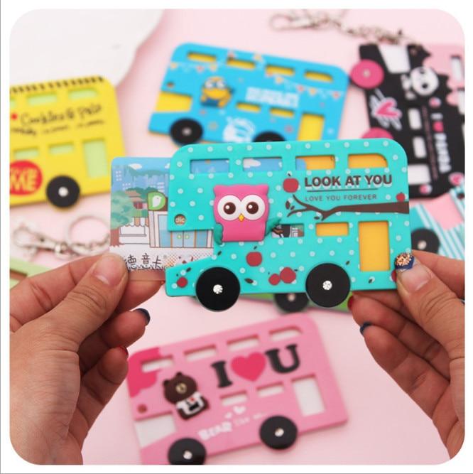 Card-Case Key-Holder Identity-Badge Kid Cartoon Cute Bank with Birthday-Gift