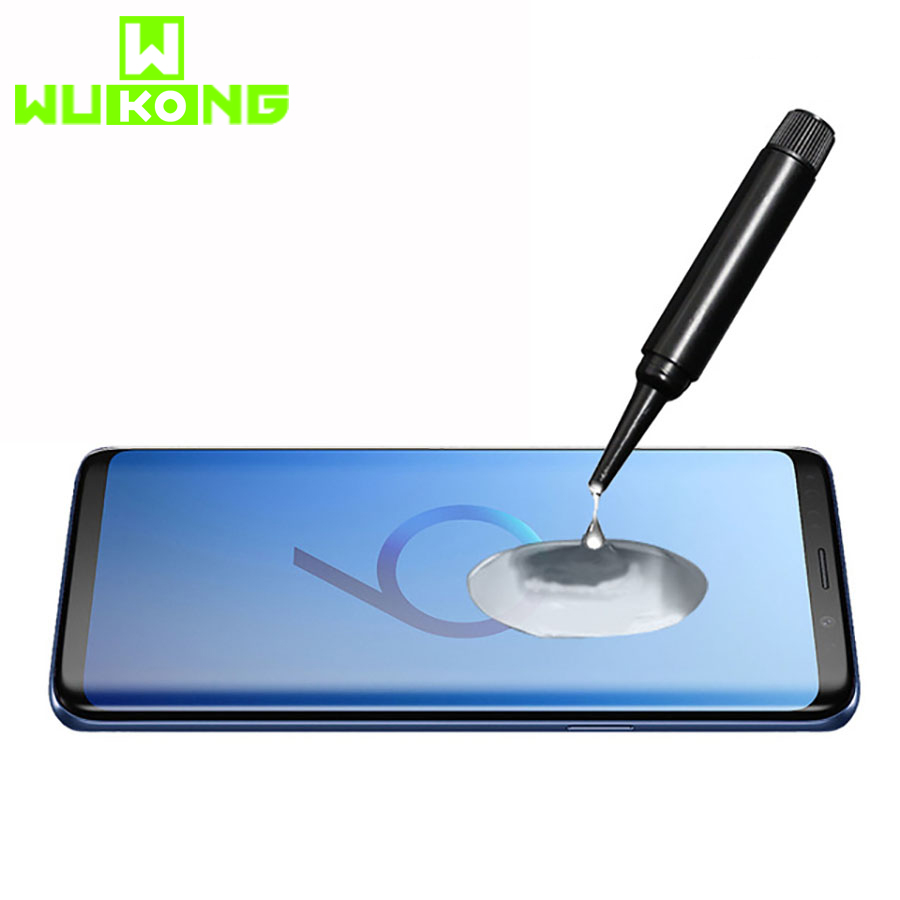 Full Glue UV Screen Protector For Samsung S10 Plus Note9 Note 10+ HW Mate 30 Pro P30pro For Oneplus 7 Pro (only Glue And Glass)