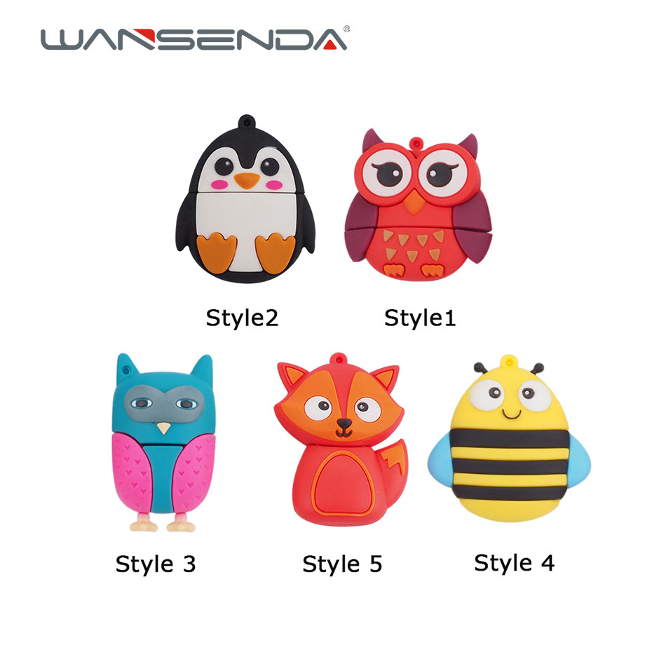 New style Cute bee penguin Fox Usb 2.0 Usb Flash Drive 4GB 8GB flash card16GB 32GB 64GB 128GB Pendrive real capacity usb stick real capacity jewelry crystal diamond memory stick usb flash drive 64gb 32gb 16gb 2 0 mini usb 128gb pendrive 2tb 1tb girl gift