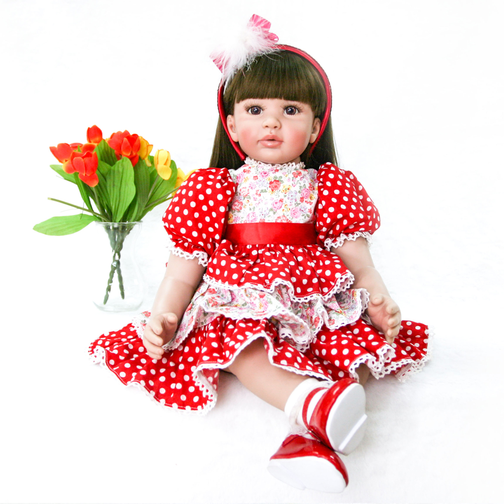 60cm Silicone Vinyl Reborn handmade adorable Baby Doll Toys Lifelike Fashion Baby Girls Birthday Gift Princess Dolls Collection60cm Silicone Vinyl Reborn handmade adorable Baby Doll Toys Lifelike Fashion Baby Girls Birthday Gift Princess Dolls Collection