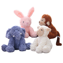цена 1pc Cute Plush Toy Forest Animal Elephant /Fox /Rabbit/Sheep/Monkey/Unicorn/Cat  Soft  stuffed Animal Soft Doll  Birthday Gift онлайн в 2017 году