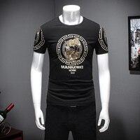 2017 Summer T Shirt Men Fashion Chinese Style Print Mens Casual T Shirts Short Sleeve Slim