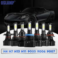 Oslamp S5 H7 9005 9006 H3 H1 H11 Single Beam H4 9007 Hi Lo Beam COB