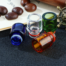 Sailing electronic cigarette 510 drip tips pure glass colorful popular vape mouthpiece for 510 thread tank atomizer