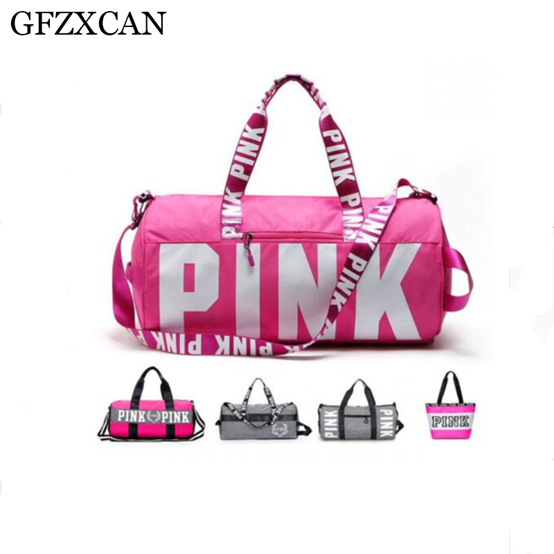 GFZXCAN Brand 2018 Fashion Ladies Large Capacity Waterproof Travel Bag Portable Travel Pink Sequins Luggage Bag Shoulder Bag