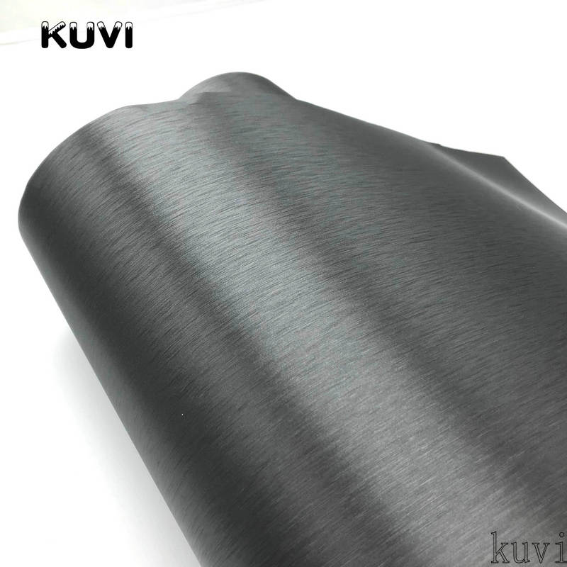 Image 5 - 10cm/20cm/30cmx152cm Car Styling Grey Metallic Brushed Aluminum Vinyl Matt Brushed Car Wrap Film Sticker Decal With Bubble-in Car Stickers from Automobiles & Motorcycles