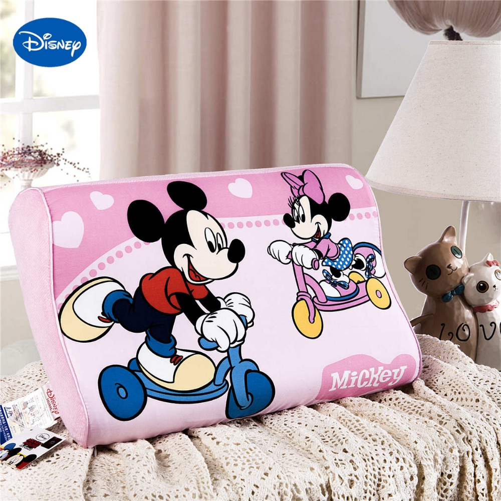 Crib pillows babies - Pink Minnie Mickey Mouse Memory Pillows 40x25cm Bedroom Decor Girl S Baby Cot Crib Bed Bedding Slow