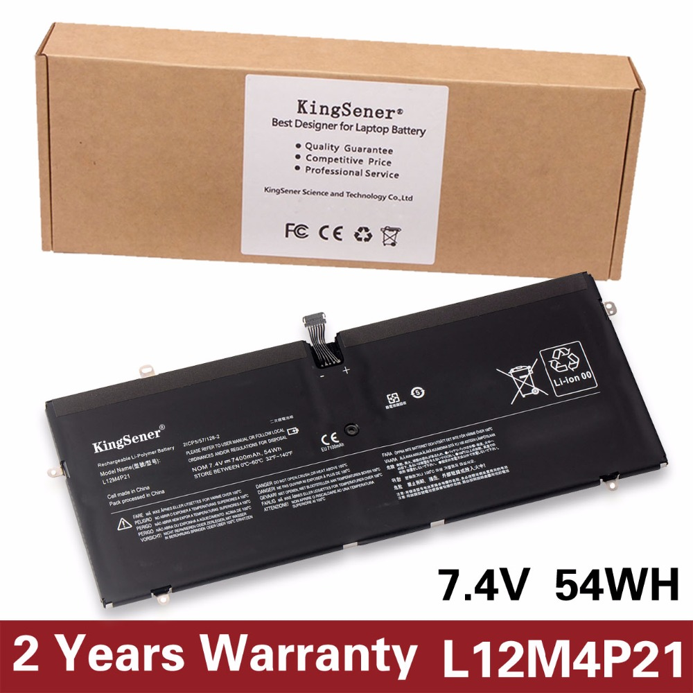 KingSener New L12M4P21 Laptop Battery for Lenovo Yoga 2 Pro 13 Inch 121500156 1CP5/57/128-2 7.4V 7400mA free 2 Years Warranty kingsener japanese cell new 191yn laptop battery for dell alienware 15 r1 15 r2 191yn 14 8v 92wh free 2 years warranty