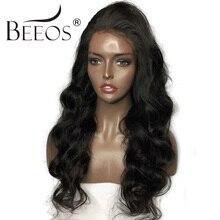 BEEOS 150 Density 14 24 Full Lace Human Hair font b Wigs b font For Black