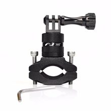 Sport Action Camera Holder Bike Bicycle Stand Holder Cam Mount 360 Degree Rotation Aluminum Handlebar Holder for Go Pro Hero(China)