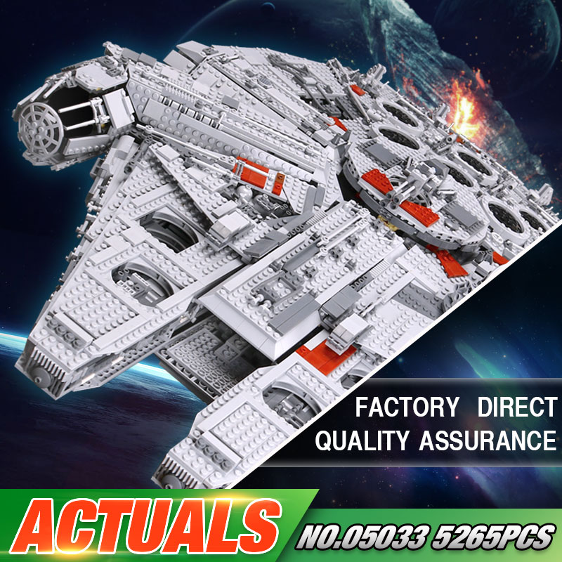 LEPIN 05033 Star Series War 5265Pcs 10179 Ultimate Collector's Millennium Toys Falcon Model Building Kit Blocks Bricks Set Toys 2018 dhl lepin star series war 05007 05033 05132 building blocks bricks model toys compatible 75105 10179 75192 gifts