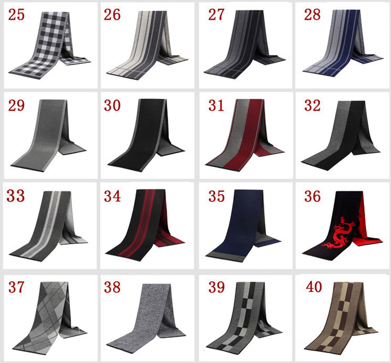 YISHLINE Fashion 180 X 30cm Thick Men scarves winter Soft Men 39 s cashmere Viscose Tassel Scarf Modal gift for father Husband in Men 39 s Scarves from Apparel Accessories
