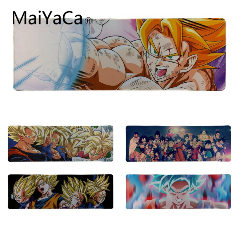 MaiYaCa Beautiful Anime dragon ball z Beautiful Anime Mouse Mat Size for 30*90cm 30*80cm Rubber Mousepads