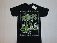 BLACK THE METEORS NEW T SHIRT S 3XL SKULL DEMON UK FIRE PSYCHOBILLY ROCK 2017 Summer