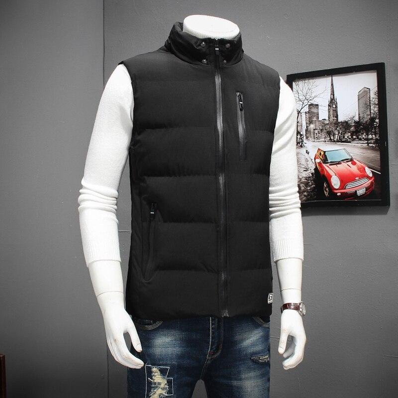Grande taille 8XL 6XL 5XL 4XL 2018 nouveau élégant automne hiver gilet hommes de haute qualité capuche chaude sans manches veste gilet hommes - 6