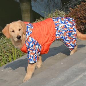 Image 5 - Waterproof Warm Cotton Big Dog Clothes Winter Large Dog Overalls Jumpsuit Dog Down Parka Coat Boxer Golden Retriever Clothing