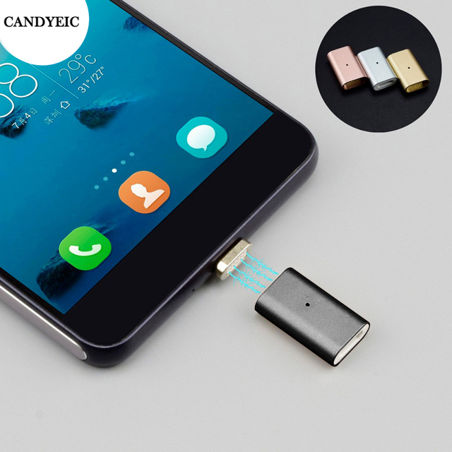 CANDYEIC מיקרו USB 2.0 מגנטי מתאם עבור אנדרואיד Huawei USB כבל, מגנטי מטען עבור Redmi LG Moto Xiaomi כבוד טעינה