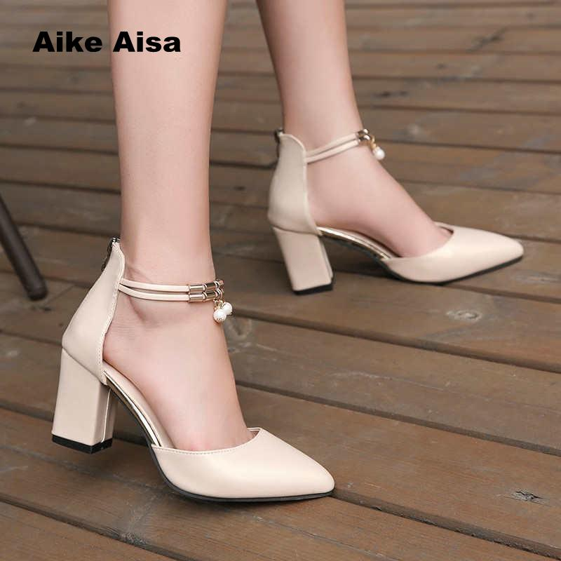 Summer Women Shoes Pointed Toe PumpsDress High Heels Boat Wedding Tenis Feminino Side With Sandals Zapatos Mujer Wedding