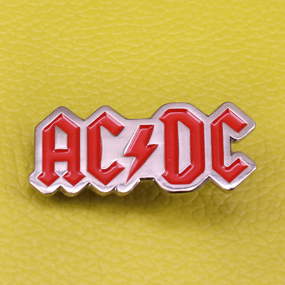 Acdc soft enamel pin rock band music lovers gift for him birthday best friend husband father