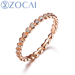 Zocai real 18k rose gold 0 05 ct certified genuine diamond wedding women ring i j.jpg 250x250
