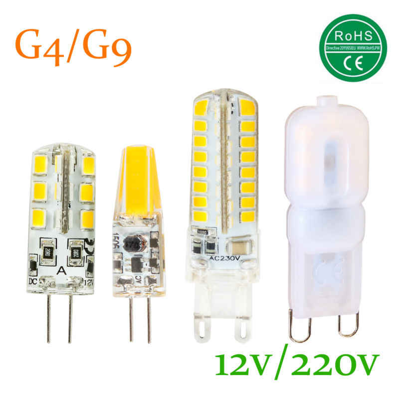 G9 G4 LED Lamp Cree 3014SMD AC 220V DC 12V 3W 4W 6W 7W 360 Degree  Cob Light 2835 For Chandelier Lighting Bulb