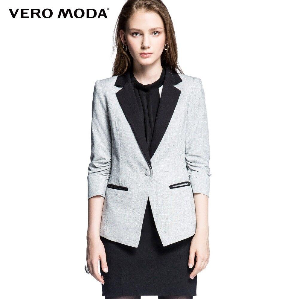 Vero Moda Brand font b women b font hot stylish Elegant Solid Slim Fit Work Wear