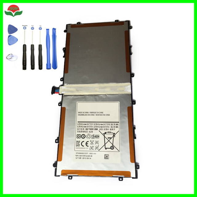 ISUN Original SP3496A8H Battery For Samsung Google Nexus 10 GT-P8110 HA32ARB Tablet Battery Replacement 9000mA with tool