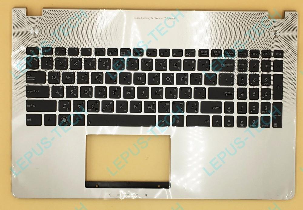 TI Thai Keyboard For ASUS N56 N56VB N56VJ N56VM N56VV N56VZ Top Cover Upper Case Palmrest 90R-N9J1K2M00Y 90R-N9J1K2M80U Silver цена