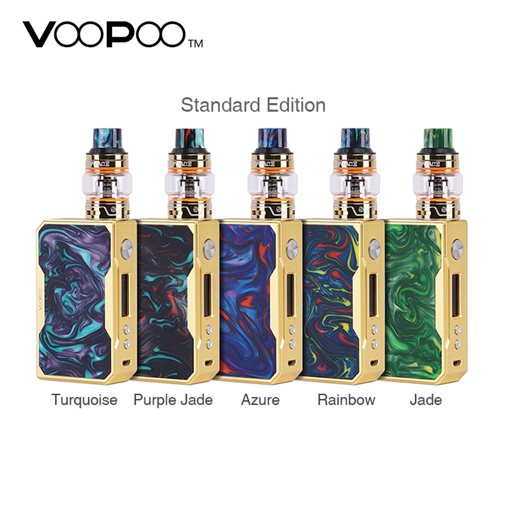 New 157W VOOPOO DRAG TC Kit with UFORCE Tank 1.8ml/5ml & U4 0.23ohm Quadruple/U2 0.4ohm Dual Coil no 18650 battery e-cig vape 100% original voopoo uforce t1 subohm tank 3 5ml 8ml with all new n1 0 13ohm mesh coil