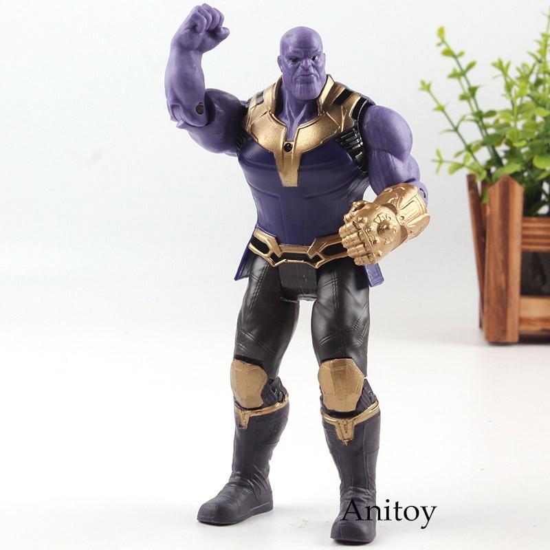 Action Figure Marvel Avengers 3 Infinity War Figura Thanos PVC Avengers Infinity Guerra Thanos Figure Da Collezione Modello Giocattoli Luce
