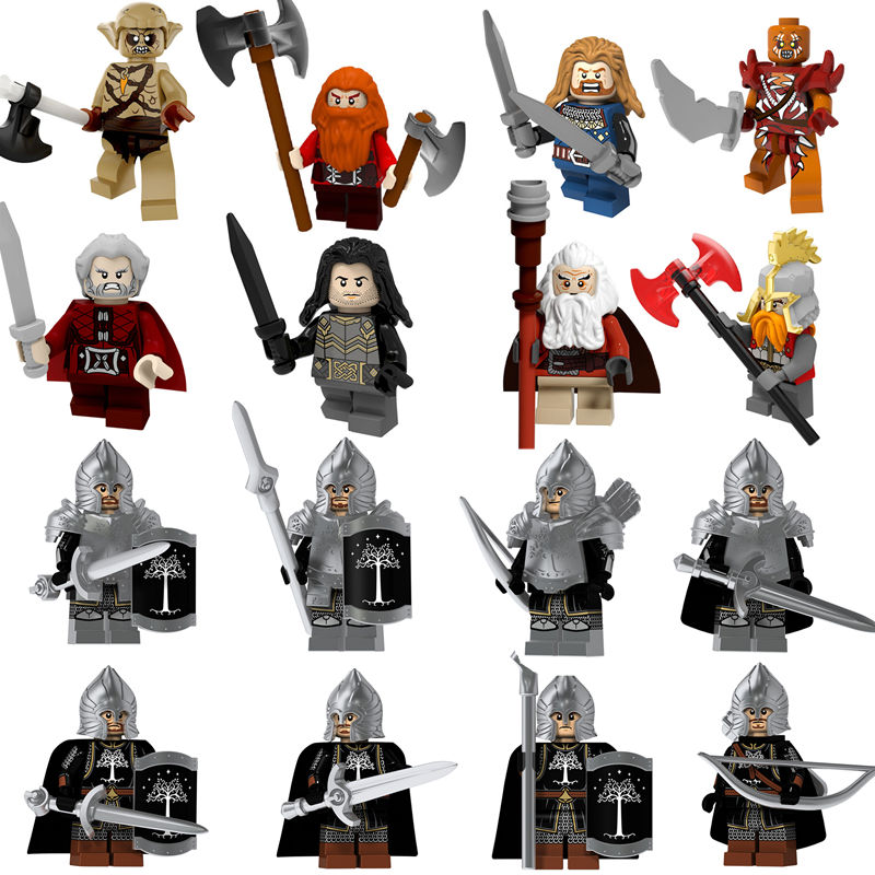 2019 Fashion 40pcs/lot Lord Of The Rings Figures Legoings Soldier Of Gondor Medieval Knight Spear Sword Heavy Infantryman Building Blocks Toy Toys & Hobbies Blocks