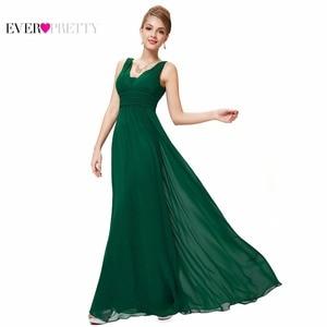 Image 2 - Formele Avondjurken Ever Pretty EP08110 Elegante Zwarte Diepe V hals Ruches Buste Maxi Vrouw 2020 Elegant Avond Jurken