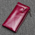 Luxury Women Wallets Brand Design Clutch Bag Long Purse for Ladies Fashion Cow Leather Card Bag Coin Holder Female Phone Pouch