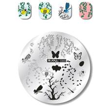 1pcs Brief Parttern Rvs Nail Art Stamping Stamp Template Gemengde Afbeelding Polish Print Platen DIY Stencil Manicure Tool(China)