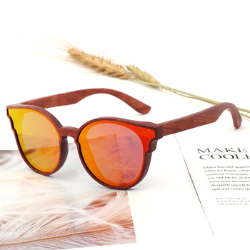 Women Butterfly Wooden Polarized Sunglasses