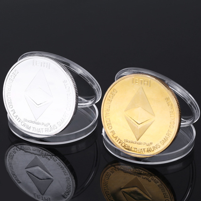 US $1 24 31% OFF|Silver/Gold Plated Ethereum Coin commemorative Coin  Litecoin Art Collection Gift Physical Antique Imitation Home Decoration-in