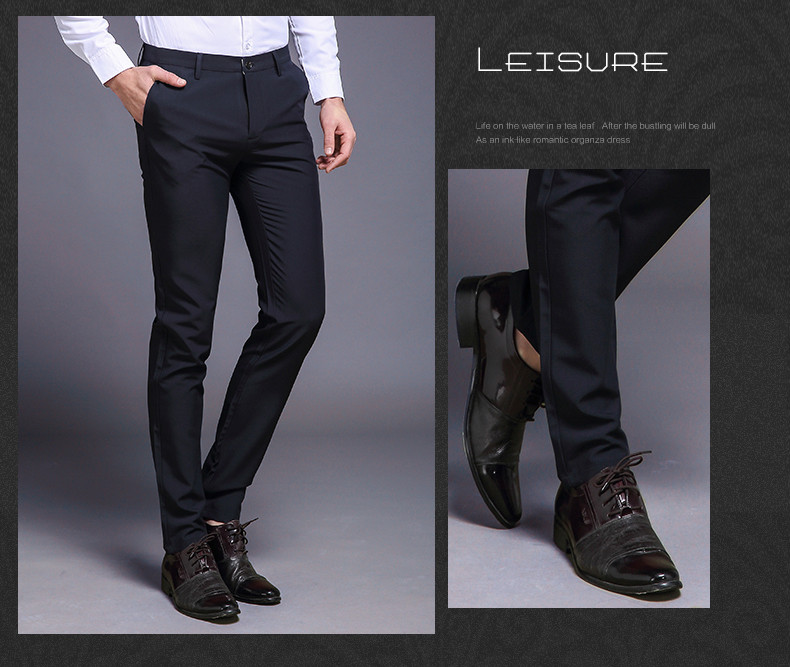 HTB1TMXjhNTI8KJjSspiq6zM4FXaT Fashion New High Quality Cotton Men Pants Straight Spring and Summer Long Male Classic Business Casual Trousers Full Length Mid