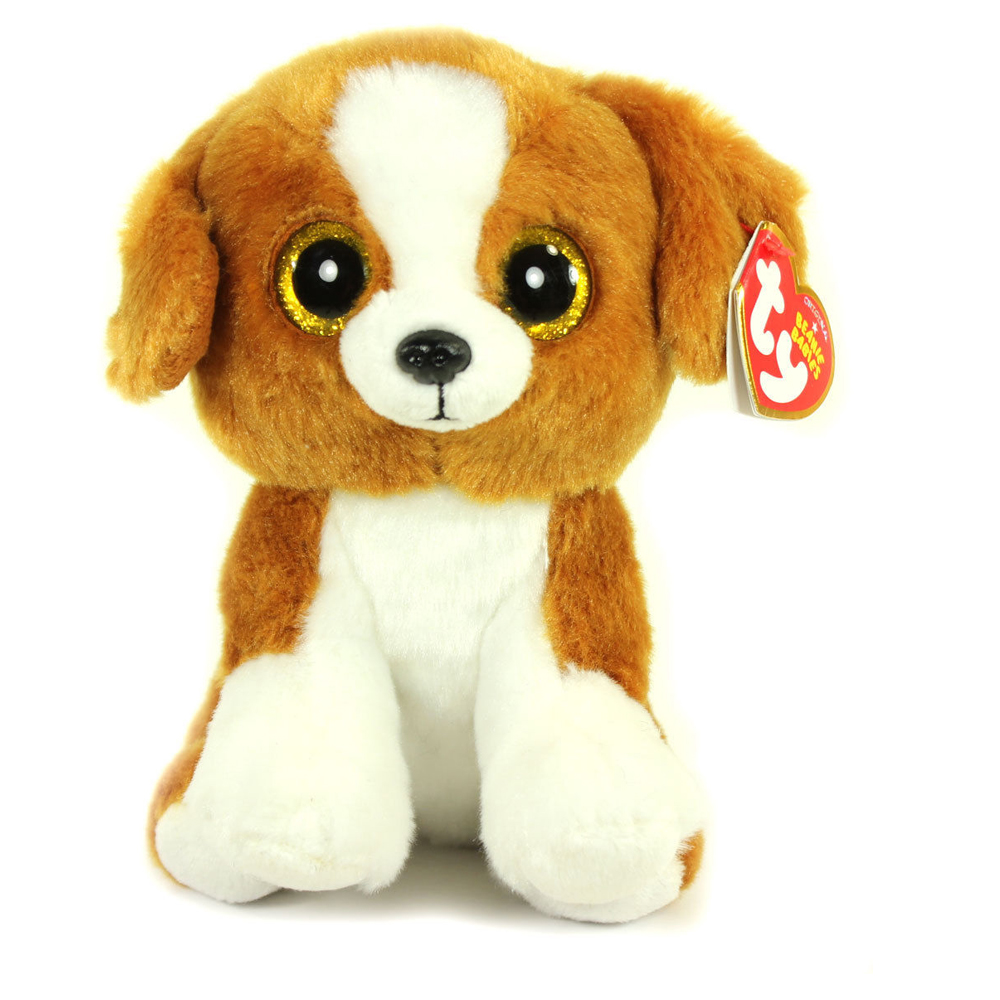 Pyoopeo Ty Beanie Babies 6 15cm Snicky Brown White Dog Plush