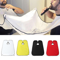 Beard Gather Cloth Apron Cape Bib Facial Hair Whisker Trimming Grooming Catcher