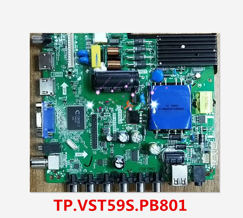 US $36 17 7% OFF|For Lehua TP VST59S PB801 motherboard original three in  one chip board LCD TV power driver board T Con-in Computer Cables &
