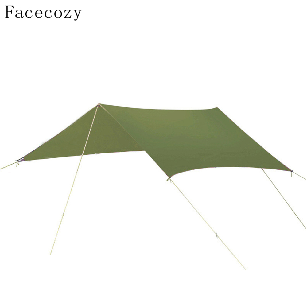 Facecozy Outdoor UV Protect Sun Shelter Sun Shade Waterproof Beach Tent Awning Picnic Camping Canopy Hiking Gazebo 3M*3M