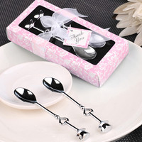 100sets/lot 'the perfect blend' coffee spoon set Love Heart Spoons Wedding Favor Guest Gift Free shipping