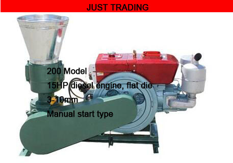 8HP 150mm And 15HP 200mm 230mm Diesel Engine Driven Wood Feed Pellet Mill Machine,with Engine