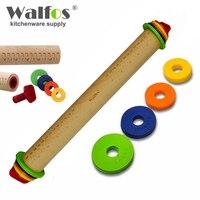 WALFOS cấp thực phẩm gỗ Cán Pin Fondant Dán Bánh Lăn Bánh Bakeware Tool-gỗ nhạc rolling pin Baking & Pastry công c